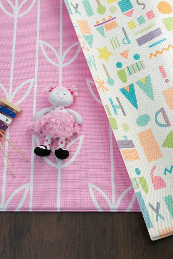 reversible playmat with toys