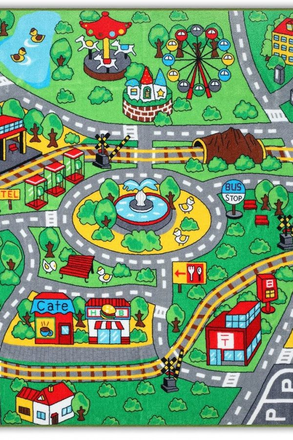 large road carpet for kids to play with