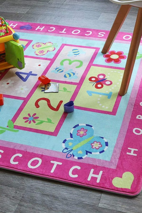 hopscotch pink playmat